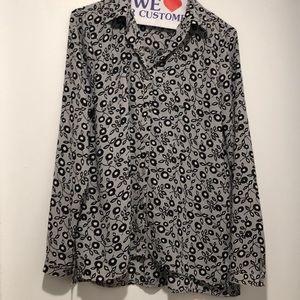 Loft fall print blouse